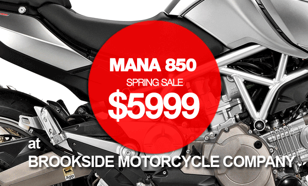 Buy a brand new motorcycle for nearly half price.